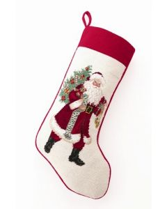 Jingle Bell Rock Santa Claus Needlepoint Stocking - ON BACKORDER UNTIL AUGUST 2021