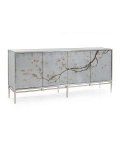 John-Richard Falling Branch Credenza with Églomisé