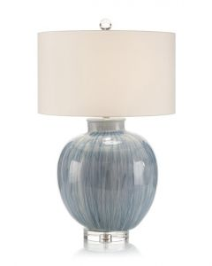 Rainstorm Blue Glazed Ceramic Table Lamp