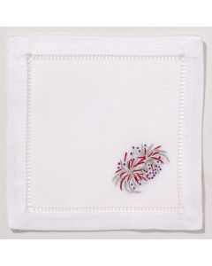 July 4th Fireworks Cocktail Napkins - Set of 4