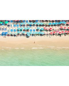 Kamala Beach Umbrellas, Thailand Print by Gray Malin