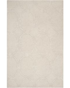 Khaki Wool Area Rug With Oval Design  Available in a Variety of Sizes