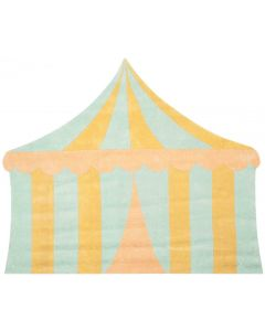 Kids Circus Tent Rug in Sea Foam and Yellow - CALL TO CONFIRM AVAILABILITY