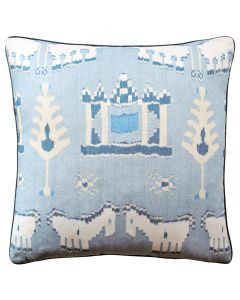 Kingdom Parade Decorative Horse Throw Pillow in Light Blue- Available in Two Sizes