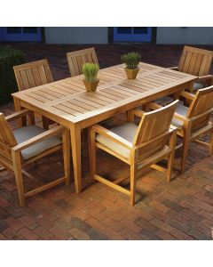Kingsley Bate Amalfi Outdoor Rectangular Teak Dining Table