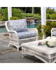 Kingsley Bate Chatham Lounge Chair in White and Optional Ottoman