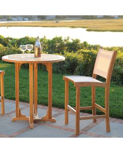 Kingsley Bate Essex 36'' Round Outdoor Bar Table with Umbrella Hole