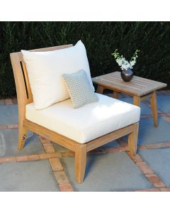 Kingsley Bate Ipanema Outdoor Teak Sectional Armless Chair