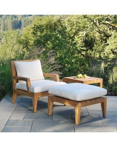 Kingsley Bate Mendocino Deep Seating Lounge Chair with Optional Ottoman