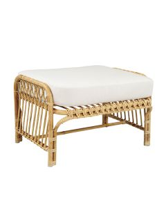 Kingsley Bate Savannah Classic Rattan Ottoman with Optional Cushion