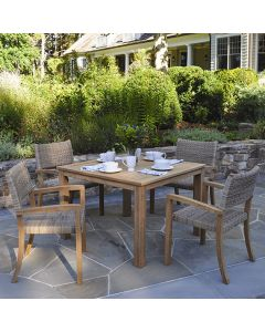 Kingsley Bate 42'' Wainscott Square Outdoor Teak Dining Table - ON BACKORDER UNTIL LATE MARCH 2022