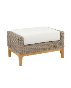 Kingsley Bate Frances Outdoor Wicker Ottoman in Variety Colors