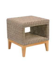 Kingsley Bate Frances Outdoor Wicker Side Table in Variety Colors - ON BACKORDER UNTIL EARLY SEPTEMBER 2021
