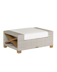 Kingsley Bate Jupiter Outdoor Ottoman in Two Different Colors - ON BACKORDER UNTIL LATE AUGUST 2021