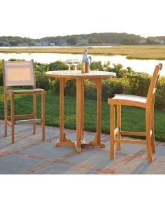 Kingsley Bate St. Tropez Outdoor Teak Armless Bar Chair