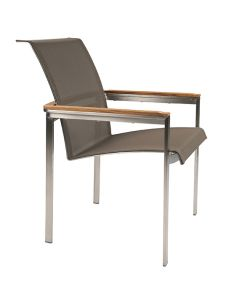 Kingsley Bate Tivoli Outdoor Stainless Steel Dining Armchair