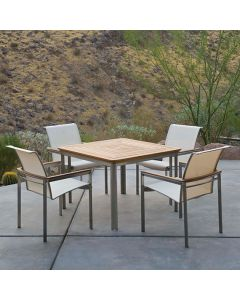 Kingsley Bate Tivoli Outdoor Stainless Steel Square Dining Table
