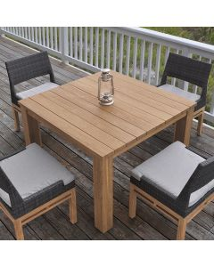Kingsley Bate Tuscany Outdoor Square Dining Table in Variety Finishes