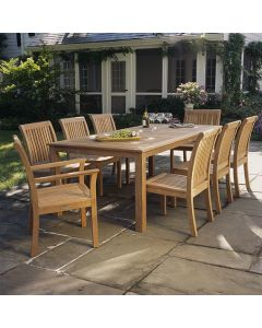 Kingsley Bate Wainscott Outdoor 85'' Rectangular Dining Table