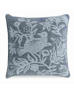 Kravet Franklin Whimsical Bird Motif Hand Embroidered Accent Pillow