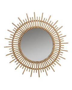 Natural Rattan Sunburst Mirror - LOW STOCK - CALL TO CONFIRM AVAILABLITY