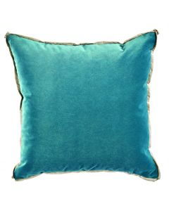 Velvet Glass with Danish Linen Flange and Butterfly Corners Throw Pillow
