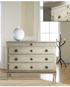 Modern History Large Gustavian Four Drawer Commode - ON BACKORDER UNTIL MID-JANUARY 2020
