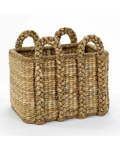 Large Rectangular Rattan Rush Storage Basket - ON BACKORDER UNTIL MID-JULY 2021