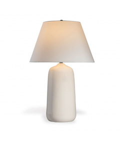 Large Cream Porcelain Table Lamp