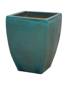 Large Teal Glazed Garden Planter