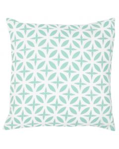Lattice Motif Linen Decorative Pillow in Seafoam - Available in Two Sizes