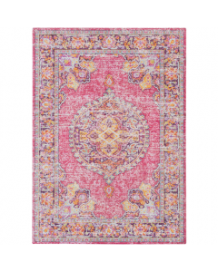 Laura Bright Pink and Purple Persian Area Rug - Available in a Variety of Sizes