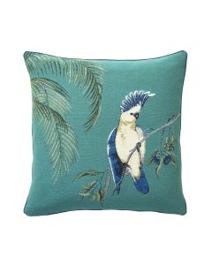 Cockatoo Woven Tapestry Decorative Pillow - Available in Three Colors
