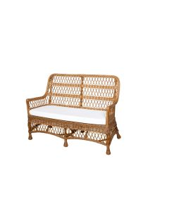 Harvested Rattan Wicker Settee with Cushion - Available in a Variety of Colors and Fabrics