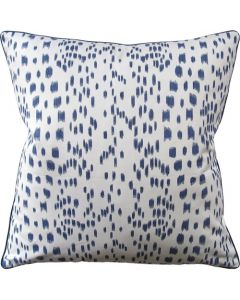 Blue Speckled Les Touches Square Decorative Pillow - Available in Two Sizes