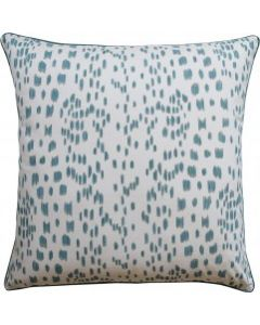 Aqua Speckled Les Touches Square Decorative Pillow - Available in Two Sizes