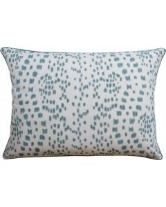 Aqua Speckled Les Touches Rectangular Decorative Pillow