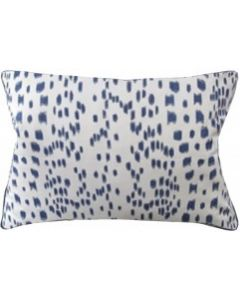 Blue Speckled Les Touches Rectangular Decorative Pillow