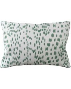 Green Speckled Les Touches Decorative Rectangular Cotton Pillow