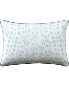 Light Blue Speckled Les Touches Square Cotton Decorative Pillow – Available in Three Sizes