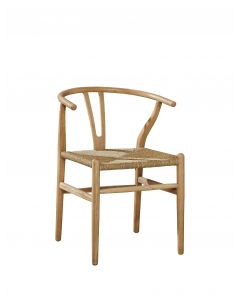 Light Oak Broomstick Dining Side Chair With Hand Woven Seat - ON BACKORDER UNTIL NOVEMBER 2019