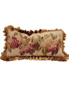 Lilac Springs Hand Woven Aubusson Pillow With Feather Insert