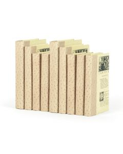 Linear Foot of Ostrich Tan Decorative Books