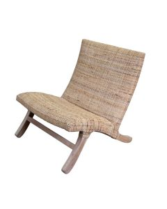 NEED MEASUREMENTS - Lio Wicker Lounge Chair
