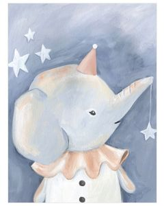 Look At The Stars - Ella The Elephant Child's Child's Wall Art