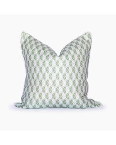 Louisiana Floral Square Pillow in Cucumber Green