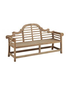 Lutyens Natural Teak Outdoor Wooden Bench