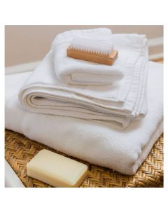 Luxury 8 Piece Cotton Bath Towel Set With Optional Monogram in White