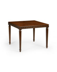Mahogany and Black Game Table