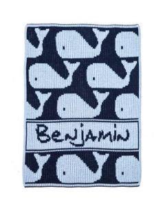 Personalized Whale Blanket - Variety of Colors Available